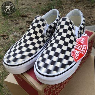 Vans Slip On Blurr Checkerboard