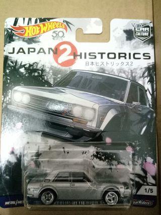 Hot wheels datsun bluebird 510 japan historics 2