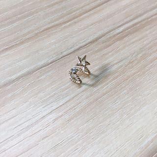 全新Vacanza純銀單隻耳骨夾 星星 小鑽