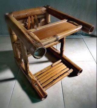 Vintage Handmade Bamboo 2-Way Toddler Seat & Stool