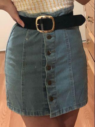 Chuu Denim Mini Skirt