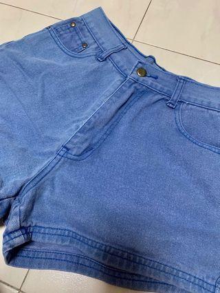 🚚 Female Dark Blue High-Waisted Shorts