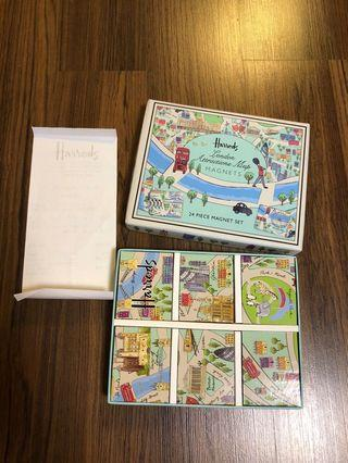 New 24 Magnets Harrods London Attraction Map