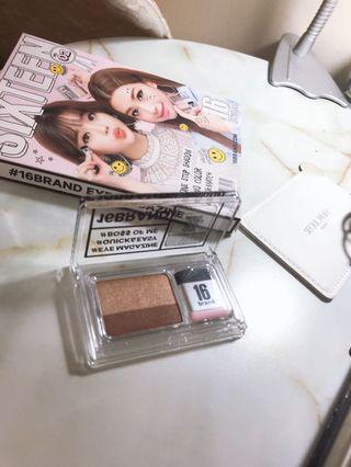 韓國 16brand雙色眼影/懶人眼影