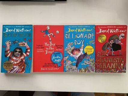 Set of 4 David Walliams books (Ratburger, The boy in the Dress, Billionaire Boy & Gangsta Granny)