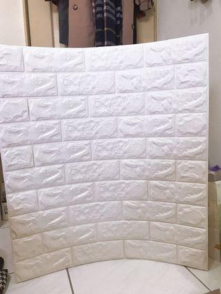 仿磚壁紙 白色