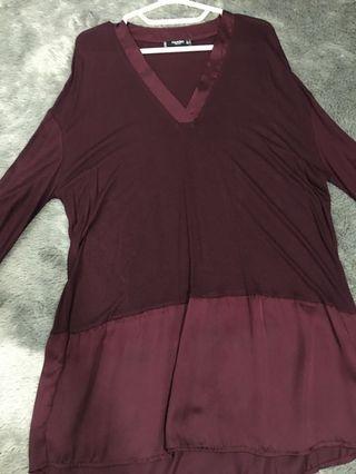 marron blouse