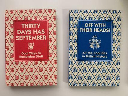 2x fun educational kids books (Thirst Days has September, Off with their heads)