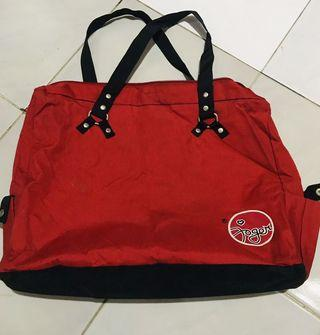 Joger tote bag red