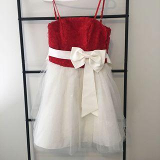 Red and White Sparkly Dress