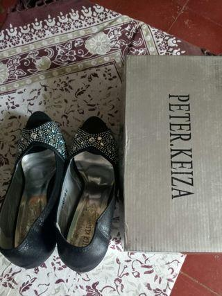 Sale Peter Keiza sequin high hells sepatu pesta