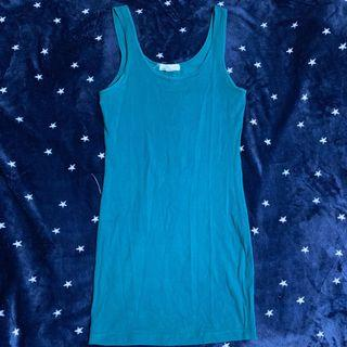 Body Fit Blue Green Dress