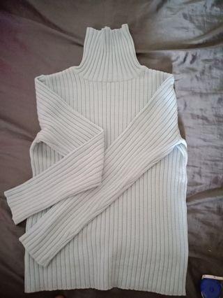 🚚 高領毛衣(淡藍)