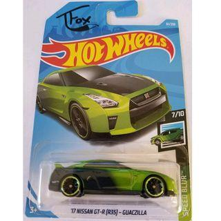 Hotwheels 2019 Speed Blur '17 Nissan GT-R (R35) - Guaczilla TFox Rare Hot Wheels