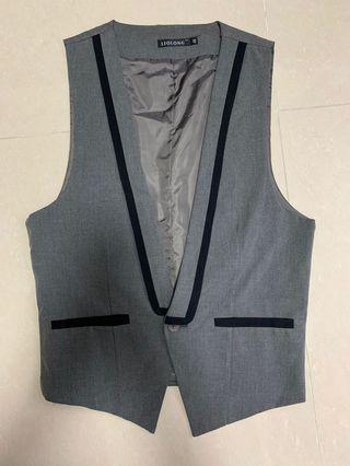 男裝灰色西裝背心 men grey vest