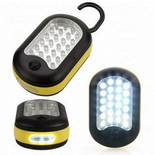 27LED手電筒燈鉤應急燈強磁/黃色