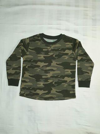 Sweater Army Anak / Kaos Lengan Panjang Anak Army look / Kaos Anak Camouflage / Baju anak laki