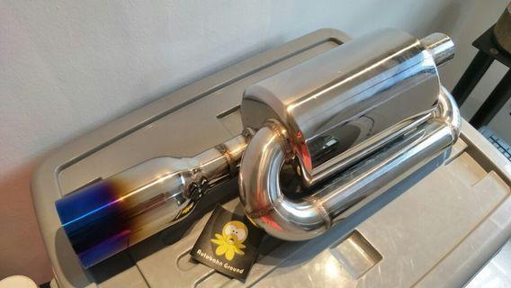 Exhaust Muffler Mugen Twin Loop
