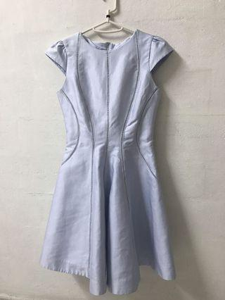 Cut Label Baby Blue Dress with Eyelet details #EndGameYourExcess