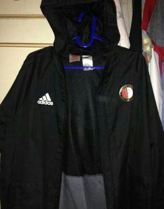 Parasut Jaket Adidas Feyenoord Hitam