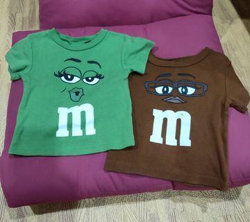 🚚 嬰幼兒m&m's_棉質短袖T