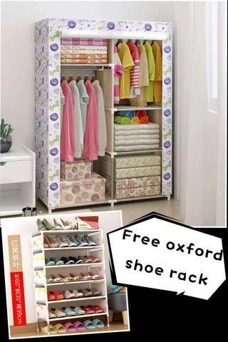 Dust-proof zipper Oxford cloth wardrobe simple wardrobe