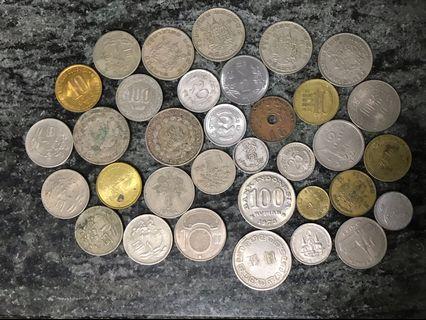 亞洲地區 舊錢幣34個 包括兩個法屬時期安南