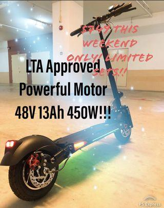 Powerful Machine LTA Approved Electric Scooter
