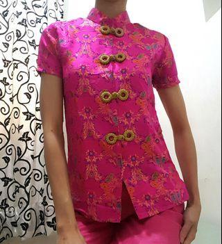 Cheongsam Top / Cheongsam blouse / Shanghai Blouse / Baju Oriental / Baju imlek