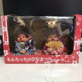 絕版 monchhichi monchichi 日式結婚公仔 和服