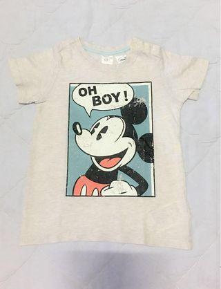Tshirt Mickey H&M size 12-18m