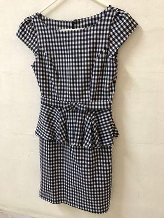 Vintage Gingham Sheath Peplum Dress #EndGameYourExcess