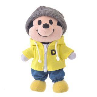 nuiMOs布偶專用服裝 - 黃色外套牛仔褲與灰色毛帽