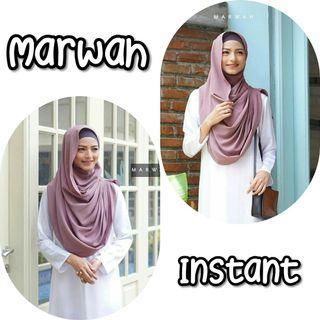 Marwah Instant Shawl Hijab Tudung Muslimah