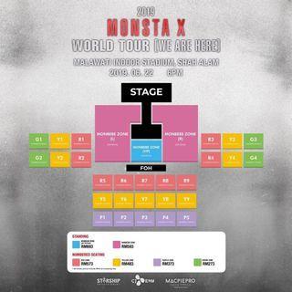 [WTB] MONBEBE VIP TICKET MONSTA X WORLD TOUR [WE ARE HERE]
