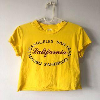 California Yellow Crop Top