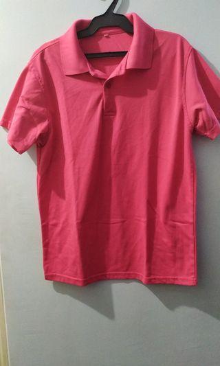 Unisex Plain Pink Polo Shirt