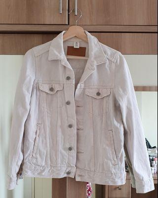 Jaket Denim Putih