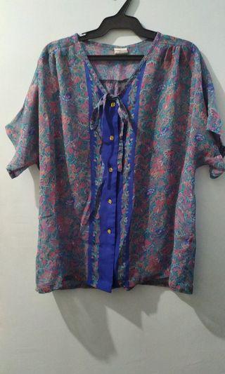 Ladies' Printed Semi Sheer Blouse