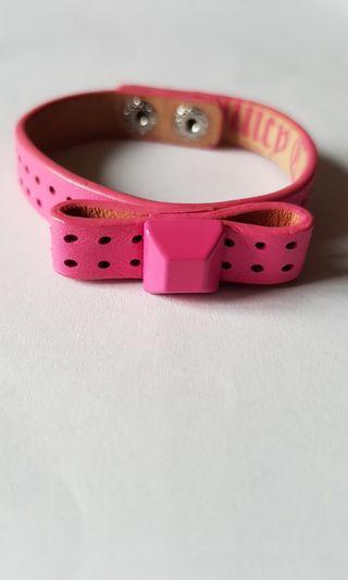 Juicy couture pink ribbon bracelet