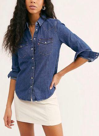 牛仔外套 恤 上衣 jeans jacket top