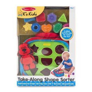 Melissa & Doug Take-Along Shape-Sorter Baby and Toddler Toy