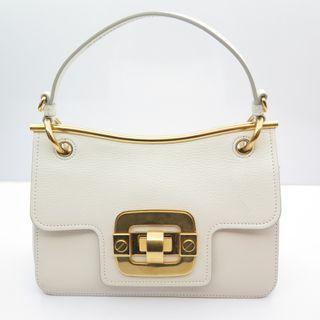 Miu Miu White Leather / Gold Hardwear Shoulder Bag