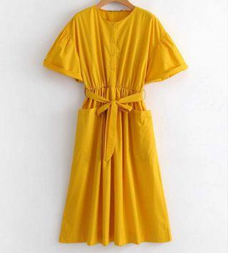 Brand New Yellow Mustard Vintage Dress