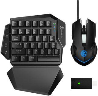 Gaming Keyboard and Mouse for Xbox One, PS4, PS3, Nintendo Switch PC, GameSir VX AimSwitch E-Sports Keypad and Mouse Combo Adapter for Computer and Consoles