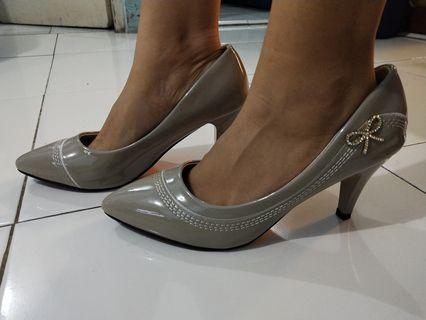 High heels Emory Ribbons Grey