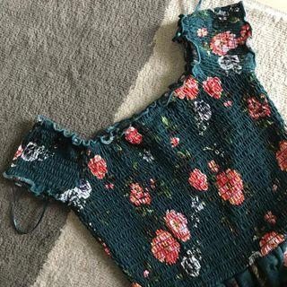 Cotton On Green Floral Dress