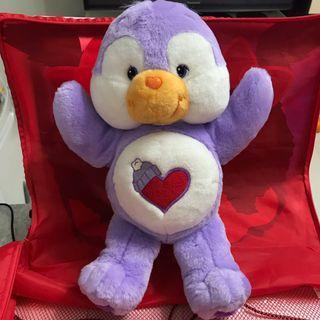 全新 care bear 朋友 紫色造型 公仔