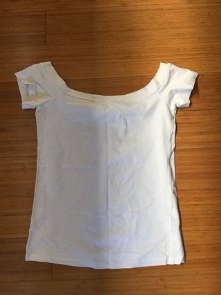 Zara white off shoulder top size S