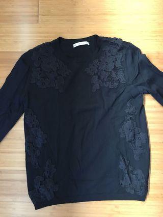 Zara black knitwear top size M